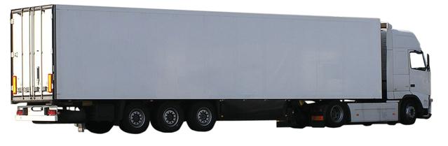 bílý kamion